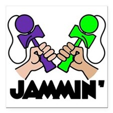 "Kendama Jammin' Square Car Magnet 3"" x 3"""