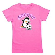 Soccer Penguin Girl's Tee