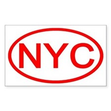 NYC Oval - New York City Rectangle Decal
