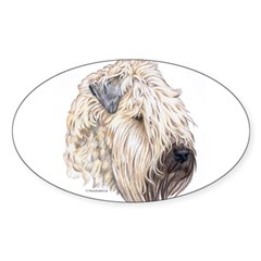 Soft Coated Wheaten terrier Oval Sticker