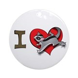 I heart sugar gliders Ornament (Round)