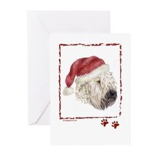 Happy Holidays Soft Coated Wheaten Greeting Cards