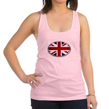Union Jack Oval Racerback Tank Top