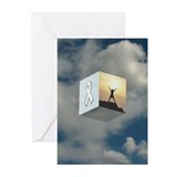 White Ribbon Greeting Cards (Pack of 6)