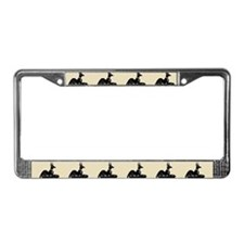 Jackal On Shrine License Plate Frame