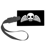 winged-skull_bw_11x18.png Luggage Tag