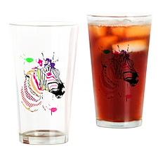 Zebra on Dope Drinking Glass