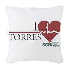 I Heart Torres Woven Throw Pillow