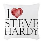 I Heart Steve Hardy Woven Throw Pillow