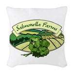 Salmonella Farms - Cilantro Woven Throw Pillow