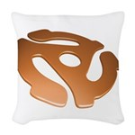 Orange 3D 45 RPM Adapter Woven Throw Pillow