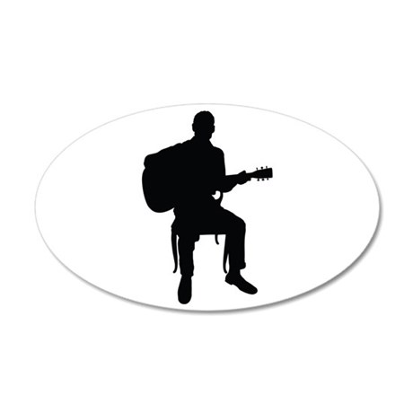 Guitar Man 20x12 Oval Wall Decal