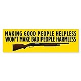 Making People Helpless Bumper Car Sticker