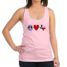 Peace Love Texas Racerback Tank Top