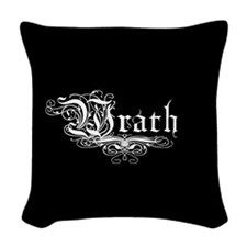 7 SIns Wrath Woven Throw Pillow