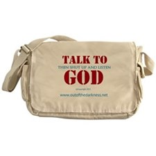 Talk to God Messenger Bag