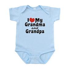 I Love My Grandma and Grandpa Infant Bodysuit