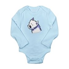 Good Dog Westie Long Sleeve Infant Bodysuit