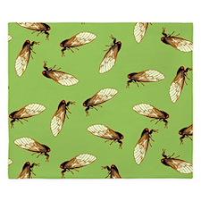 Cicada Pattern King Duvet