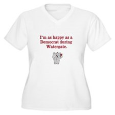 Happy as a Democrat during Watergate Plus Size T-S