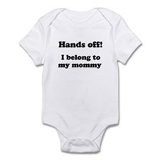 Unique Hands off my baby Infant Bodysuit