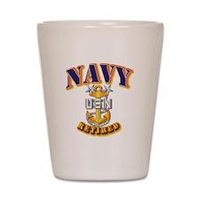 NAVY - MCPO - Retired Shot Glass