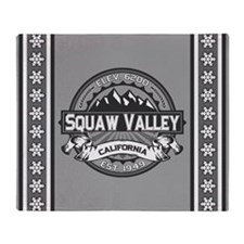 Squaw Valley Grey Throw Blanket