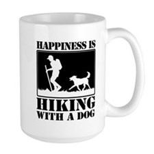Happiness is Hiking with a Dog Mug