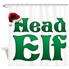 Head Elf Shower Curtain