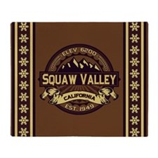 Squaw Valley Sepia Throw Blanket