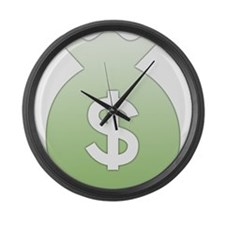 Money Bag Large Wall Clock