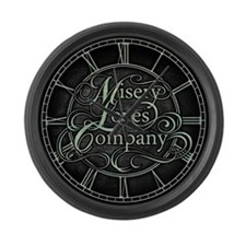 Misery Loves Company Large Wall Clock