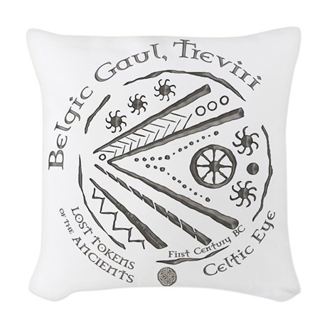 Celtic Eye Coin Woven Throw Pillow
