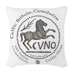 Celtic Horse Coin Woven Throw Pillow