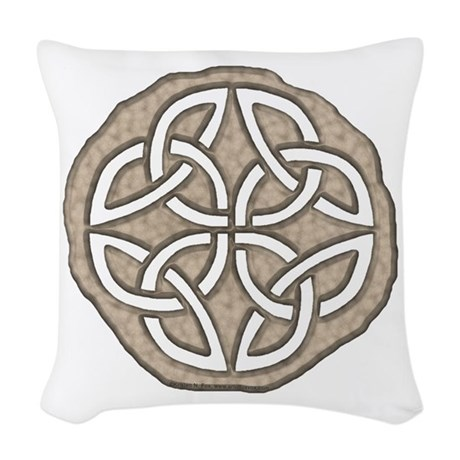 Celtic Knotwork Coin Woven Throw Pillow