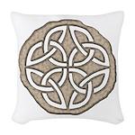 Celtic Knotwork Coin Woven Throw Pillow