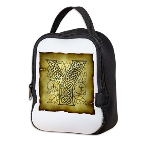 Celtic Letter Y Neoprene Lunch Bag