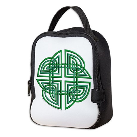 Celtic Four Leaf Clover Neoprene Lunch Bag