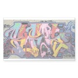 Wildstyle-graffiti Rectangle Decal