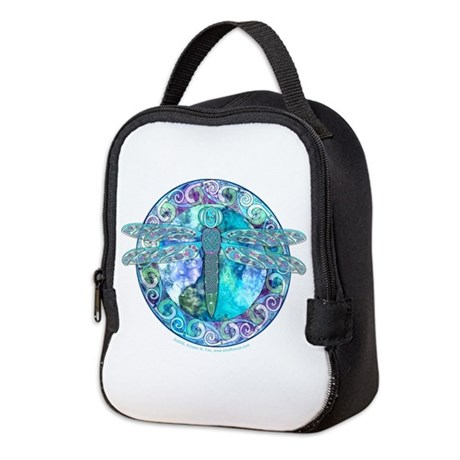 Cool Celtic Dragonfly Neoprene Lunch Bag