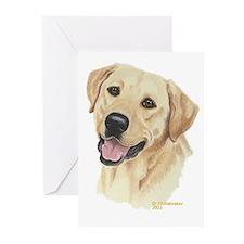 Yellow Labrador Greeting Cards (6)
