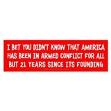 Nation At War Bumper Car Sticker