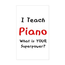 teach piano Decal