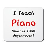 teach piano Mousepad