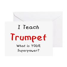 teach trumpet Greeting Card