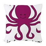 Octopus10.png Woven Throw Pillow
