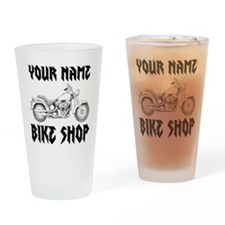Custom Bike Shop Drinking Glass