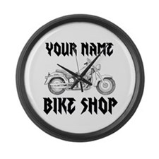 Custom Bike Shop Large Wall Clock