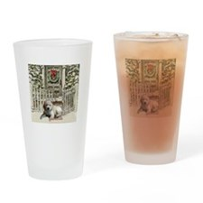 Goldendoodle Christmas Drinking Glass