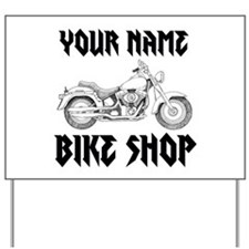 Custom Bike Shop Yard Sign